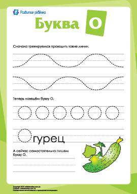 Русский алфавит: написание буквы «О»