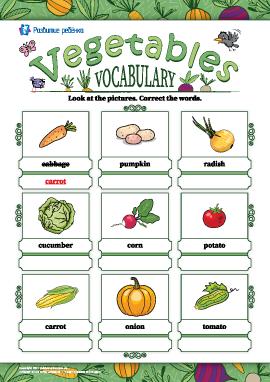 Исправляем названия: «Овощи» (на английском языке)