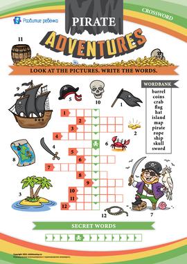 Кроссворд на английском «Приключения пиратов»