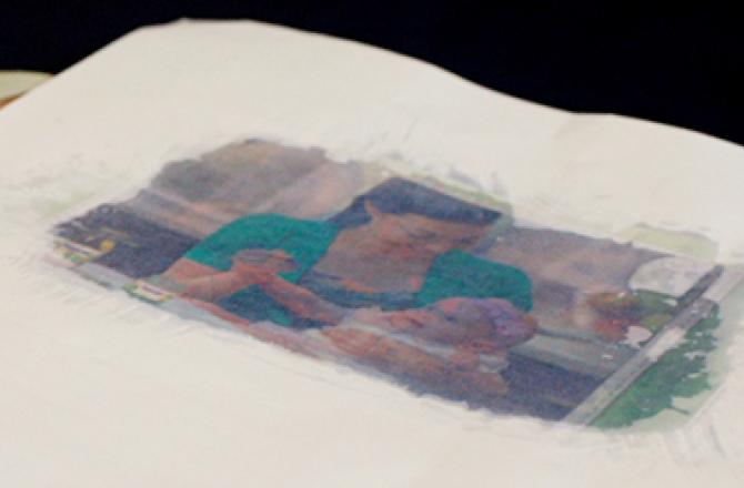 Как заглянуть сквозь бумагу: свойства жирного пятна