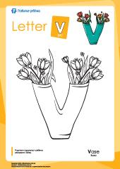 Раскраска «Английский алфавит»: буква «V» – Развитие ребенка