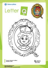 Раскраска «Английский алфавит»: буква «Q» – Развитие ребенка