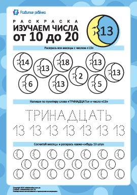 Изучаем число «13»