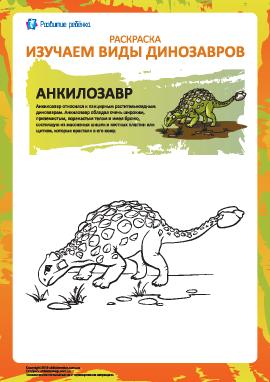 Раскраска динозавры: анкилозавр