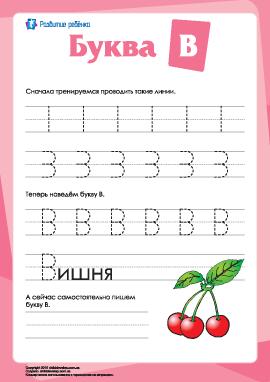 Русский алфавит: написание буквы «В»