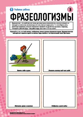 Фразеологизмы № 3 (русский язык)