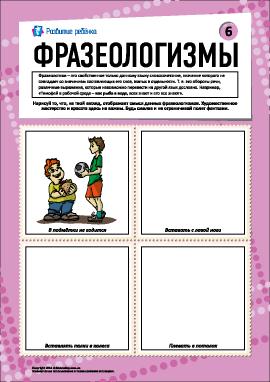 Фразеологизмы № 6 (русский язык)