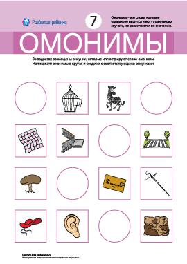 Омонимы № 7 (звезда, ежик, дробь, зарядка)