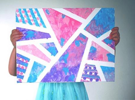 Абстрактная живопись детскими пальчиковыми красками