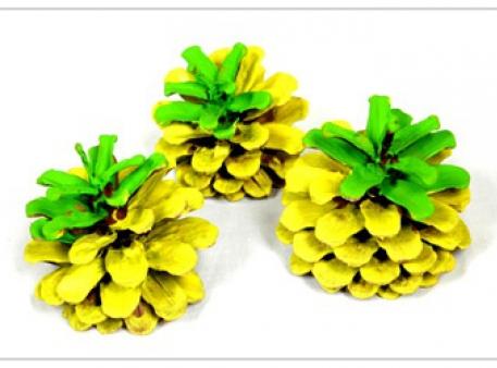 Раскрашиваем сосновую шишку в летние цвета