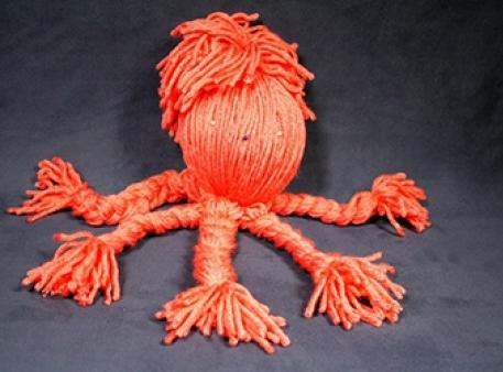 Осьминог из пряжи - игрушка своими руками