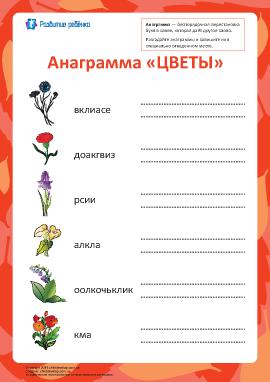 Анаграмма «Цветы»