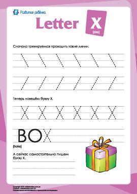 Английский алфавит: написание буквы «X»