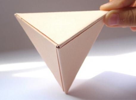 Пирамидка из модулей оригами: объемная фигура