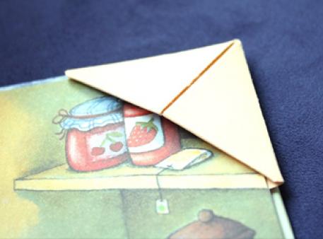 Закладка-оригами для маленьких читателей