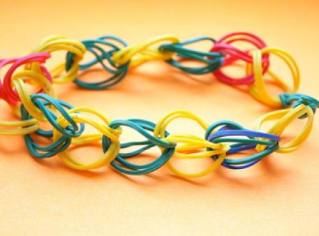 Плетение из резинок: простая схема для детей