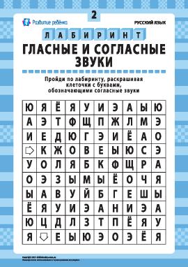 Гласные и согласные звуки № 2 (русский язык)