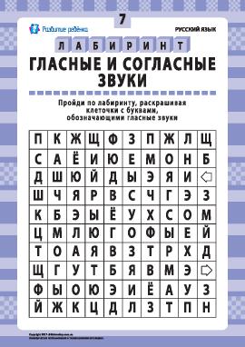 Гласные и согласные звуки № 7 (русский язык)