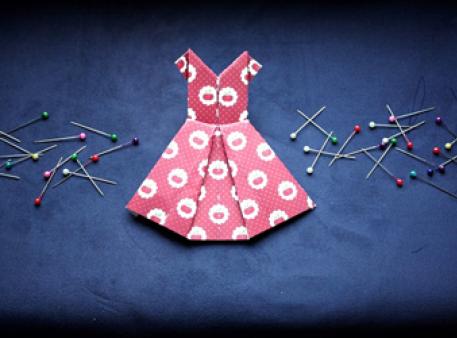 Девчачье оригами - платье среднего уровня сложности