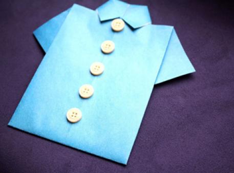 Оригами с мужским характером - рубашка из бумаги
