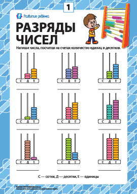 Разряды чисел: учим класс единиц № 1