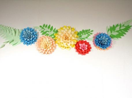 Большие бумажные цветы своими руками