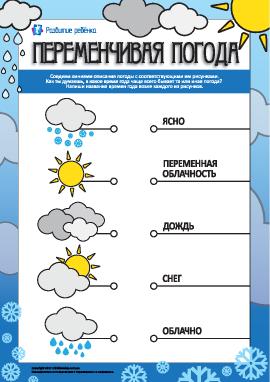 Переменчивая погода: учимся описывать погоду
