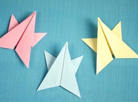 Звезда-оригами для детского творчества