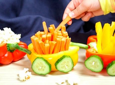Овощной поезд: готовим вместе с ребенком