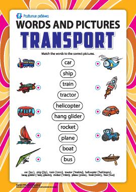 Слова и рисунки: транспорт