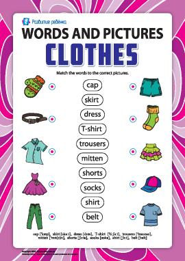 Слова и рисунки: одежда