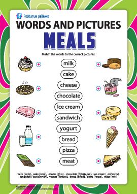 Слова и рисунки: еда