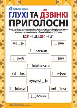 Различаем глухие и звонкие согласные: [ДЗ] – [Ц], [ДЗ'] – [Ц'] (украинский язык)