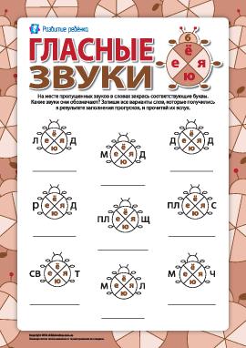 Различаем гласные звуки и буквы №6  (Ё, Е, Ю, Я) (русский язык)