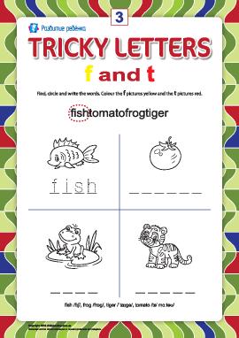 Пишем правильно английские буквы № 3 (f и t)