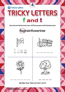 Пишем правильно английские буквы № 4 (f и t)