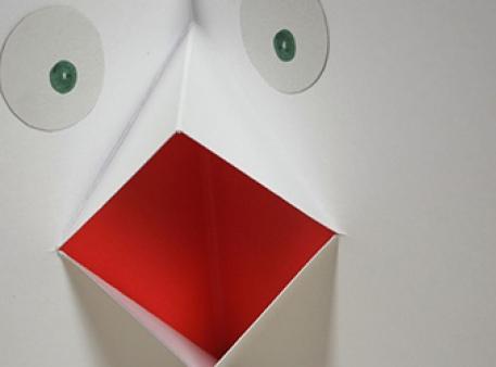 Белая ворона: pop-up разворот для открытки