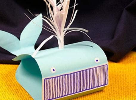 Бумажный кит: объемная поделка для детей