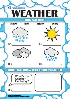 Учимся определять погоду на английском языке