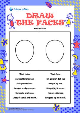 Нарисуй лица детей (на английском языке)