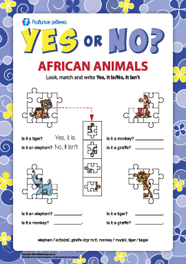 Утверждение и отрицание в английском языке. Африканские животные №7