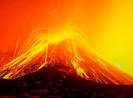 Настоящий мини-вулкан в домашних условиях