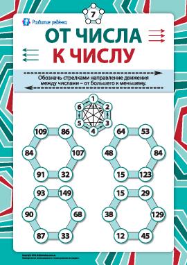 От числа к числу №7: сравнение в пределах 150