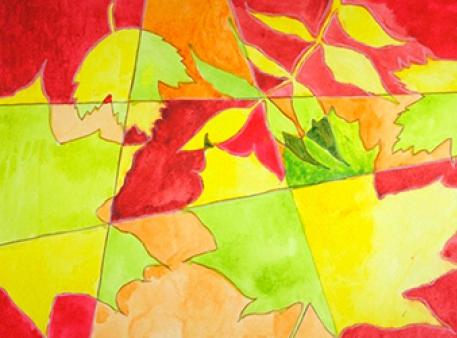 Осенняя композиция с листьями