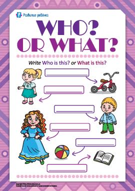 Различаем What? и Who? (на английском языке)