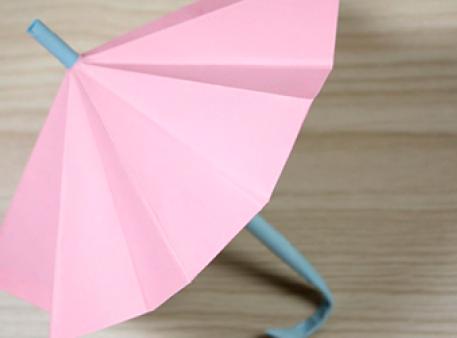 Зонтик в технике оригами, который можно складывать