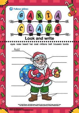 Опиши Санта Клауса (на английском языке)