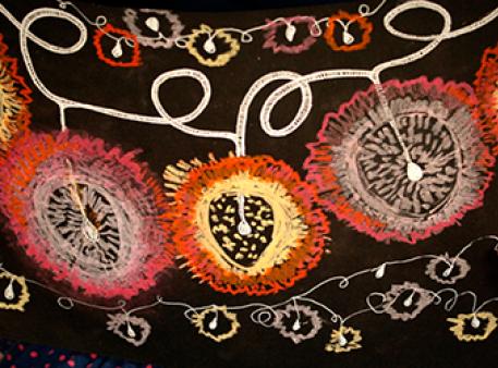 Рисуем сияющую гирлянду масляной пастелью