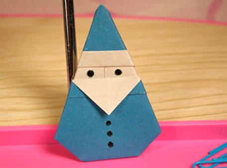 Как сделать Санта Клауса в технике оригами