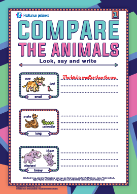 Сравниваем животных (английский язык)